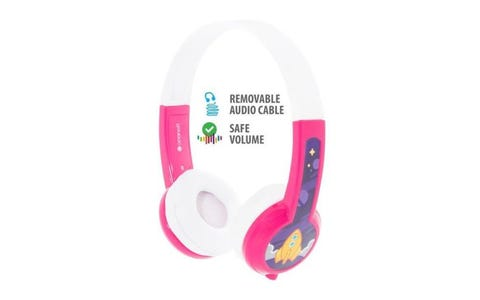 BuddyPhones Connect Wired Headphones  - Pink