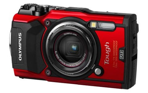 Olympus Tough TG-5 (12MP) Compact Digital Camera - Red