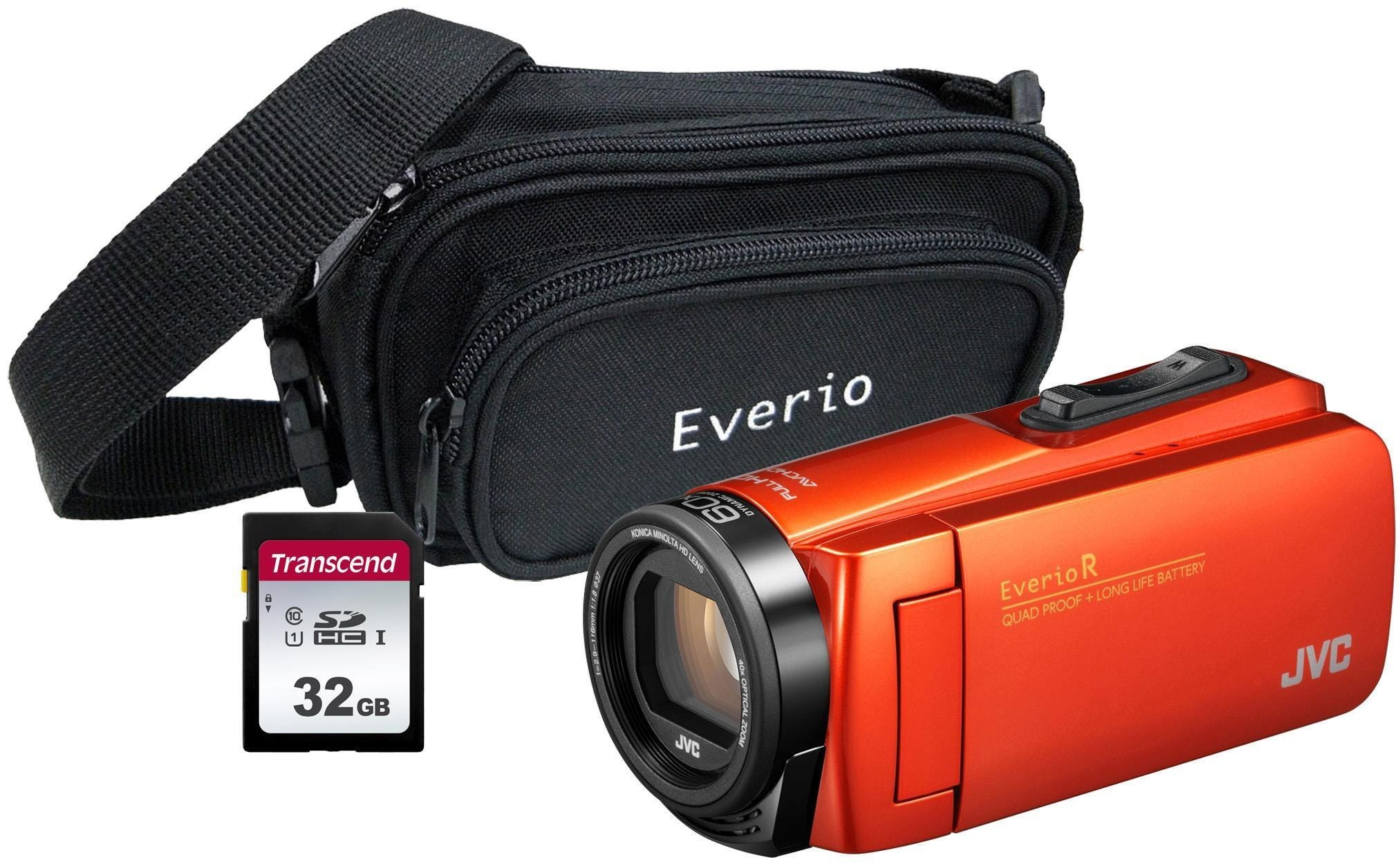 JVC GZ-R495 4GB Memory HD Quad Proof Camcorder Kit including 32GB SD and Case - Orange