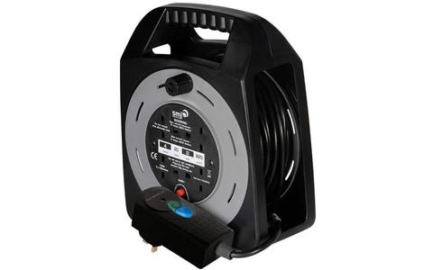 SMJ Electrical 4x 13A Socket Easy Wind Compact RCD Extension Cable Reel (20m)