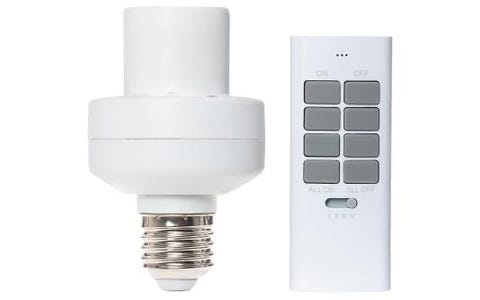 Maplin ORB Remote Controlled Mains Light Bulb Socket with Remote Control