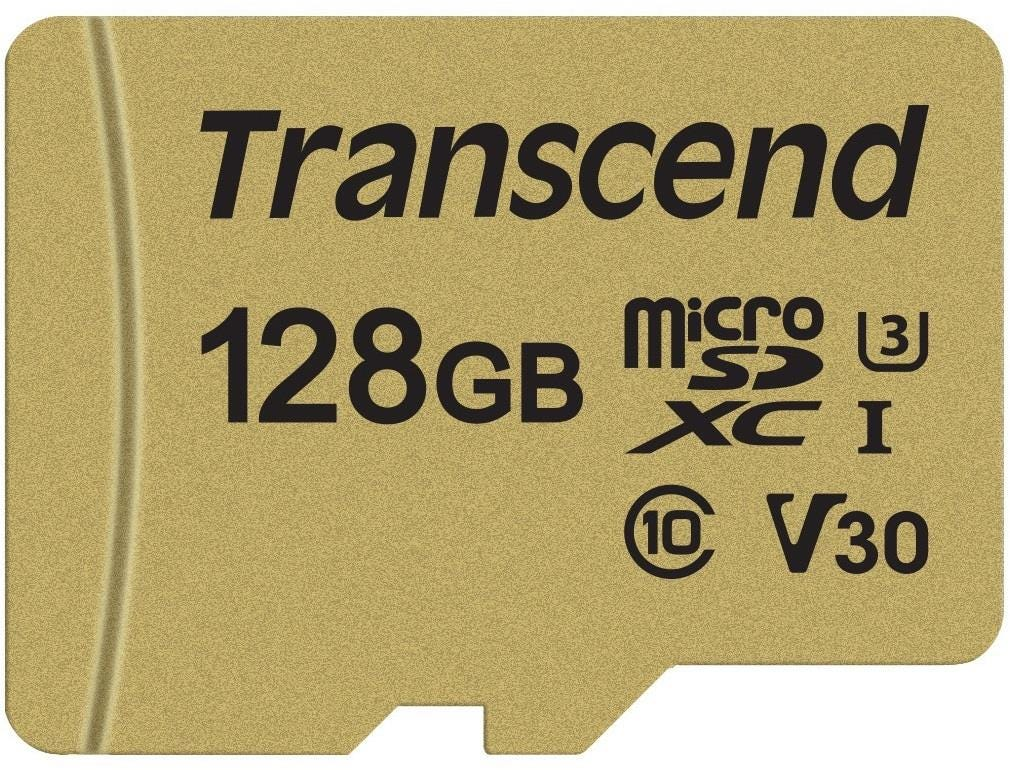 Transcend High Endurance 128 GB UHS-I U3 Class 10 MicroSD Card with Adapter
