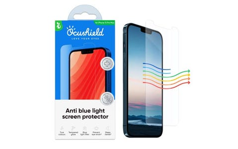 """Ocushield iPhone 13 6.7"""" Anti-Bacterial Tempered Glass Screen Protector"""