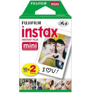 Fujifilm Instax Mini Credit Card Size Glossy Photo Film 20 Shot Pack