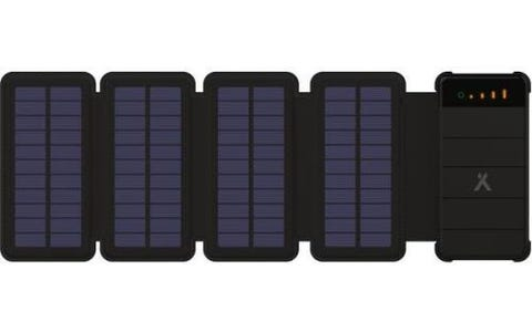 Bear Grylls 8000mAh Portable Solar Power Bank with Dual Charging Ports - Black