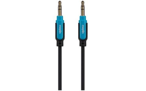 Maplin Premium 3.5mm Stereo Auxiliary Audio 3 Pole Jack Plug Cable (0.75m) - Black