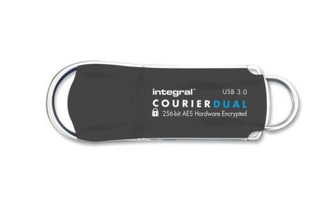 Integral 8GB Courier AES Dual User USB 3.0 Flash Drive