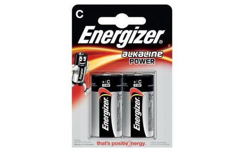Energizer LR14 Max C 2x Alkaline Power Batteries - 1.5V