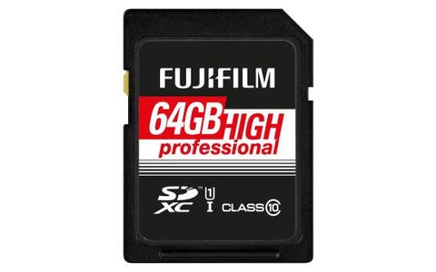 Fujifilm SDXC 64GB UHS-I High Speed Professional Class 10 SD Memory Card