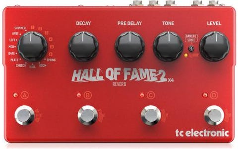 TC Helicon Hall of Fame 2 x 4 Reverb Pedal