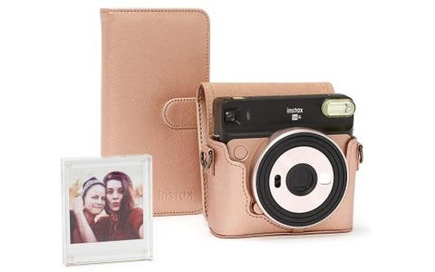 Fujifilm Instax SQ6 Accessory Kit with Case, Album & Photo Frame - Blush Gold