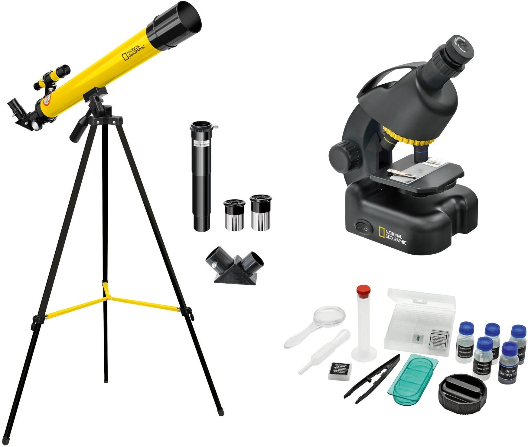 National Geographic 50/600 Telescope, Microscope 640x    Smartphone Adapter Kit