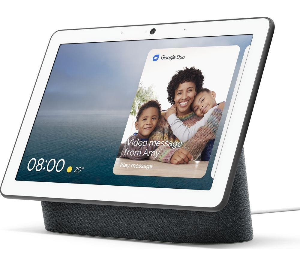 "Google Nest Hub Max Smart Home Controller with 10"" Screen - Charcoal"