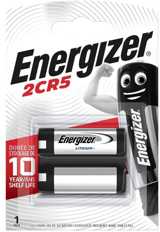 Energizer Lithium 2CR5 Batteries - Pack of 6