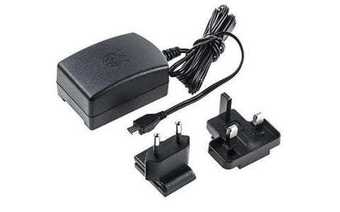 Raspberry Pi Official 2.5A UK & EU Power Supply Unit - Black