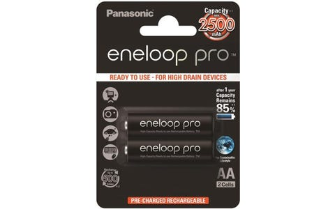 Panasonic Eneloop Pro Rechargeable Ni-MH AA Batteries - Pack of 2