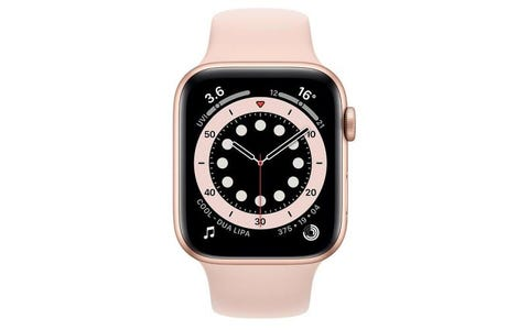 Apple Watch SE GPS - Gold Aluminium Case with Pink Sand Sport Band, 44mm