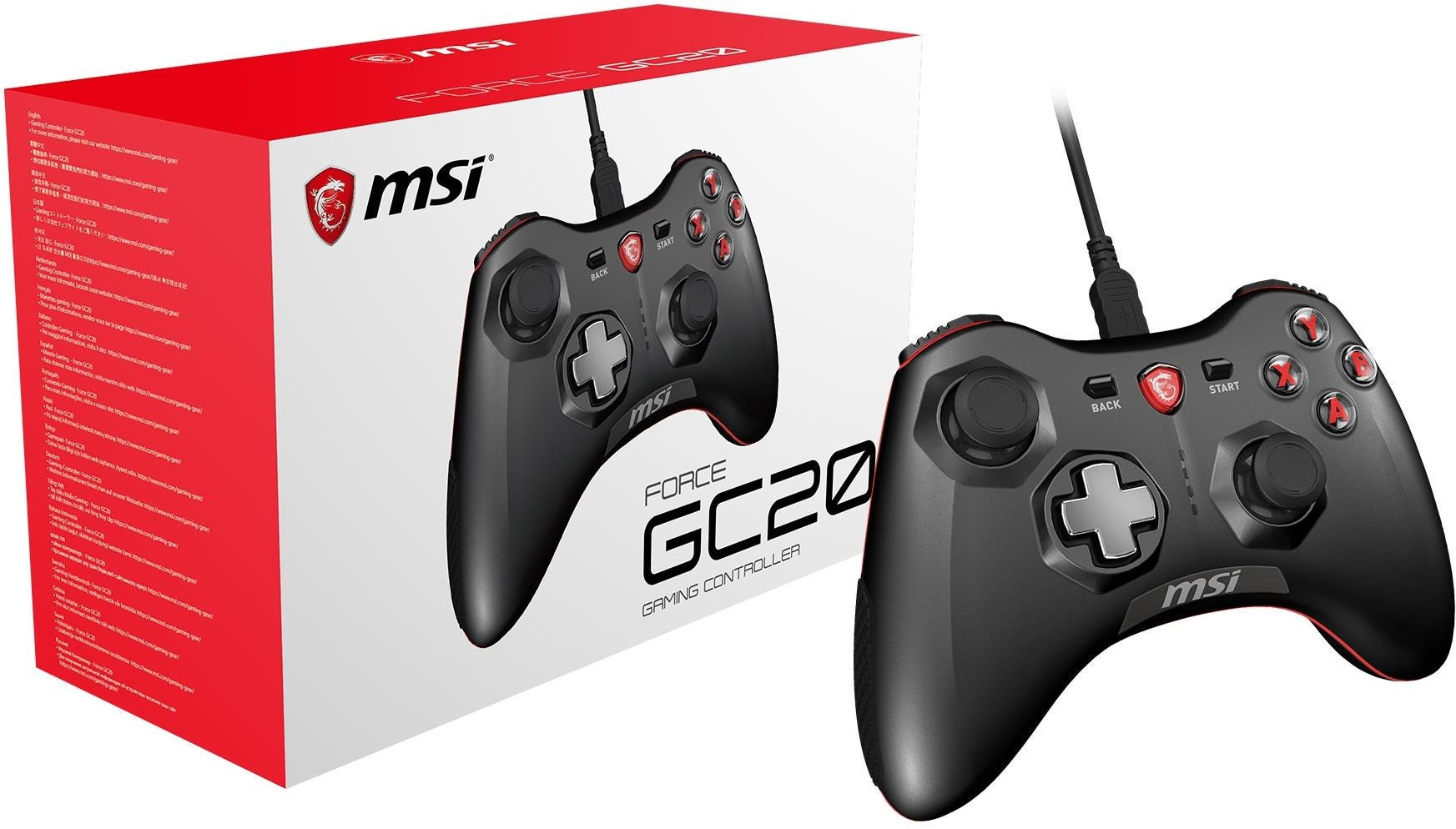 MSI Force GC20 Wired Pro Gaming Controller for PC and Android