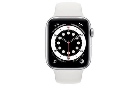 Apple Watch Series 6 GPS - Silver Aluminium Case with White Sport Band, 40mm