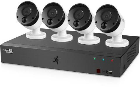 HomeGuard (1TB) 1080p 8 Channel DVR with 4 x 1080p PIR CCTV Cameras Kit