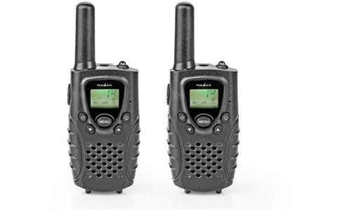 Nedis 8 km Range Walkie-Talkie (2 Pieces) - Black