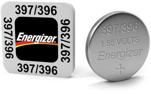 Energizer SR59/S77 397/396 Silver Oxide Coin Button Cell Battery (Pack of 10)