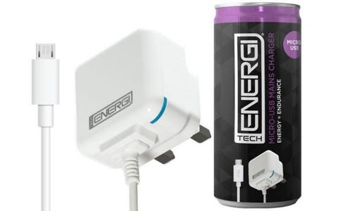 Tech Energi Micro USB Mains Charger - White