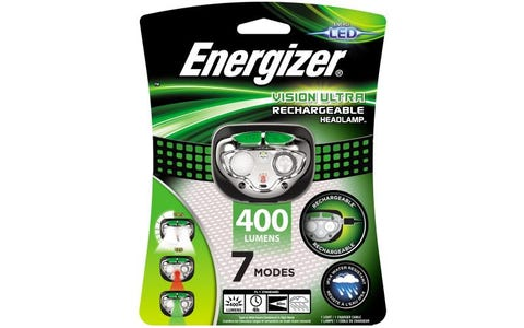 Energizer Vision LED USB Rechargeable Headlight with 400 Lumens