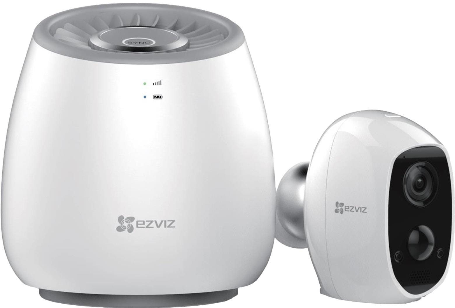 EZVIZ C3A Indoor / Outdoor Wire-Free Full HD Night-Vision Security Camera    4G LTE Hub Kit - White