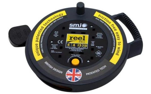 SMJ Electrical 4x 13A Socket Friction Free Tough High Visibility Extension Cable (4m)