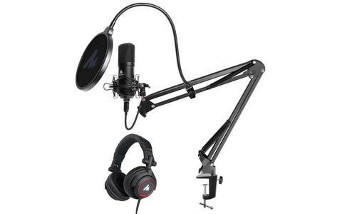 [Like New] Maono Podcasting Microphone with Studio Headphones Kit