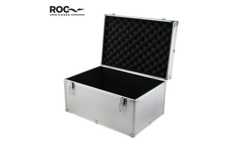 ROC Cases Aluminium Flight Case with Internal Divider - Silver