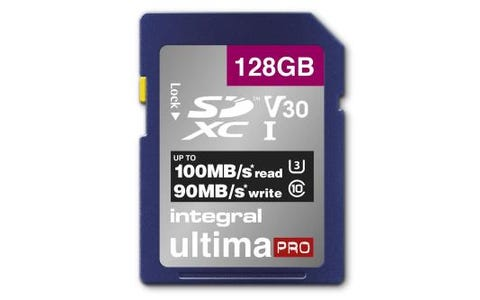Integral 128GB High Speed V30 UHS-I U3 SDHC Memory Card