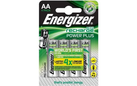 Energizer Power PLUS Rechargeable Ni-MH AA Batteries - Pack of 4