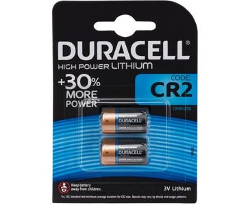 Duracell Ultra Lithium CR2 (CR17355) Batteries Card of 2