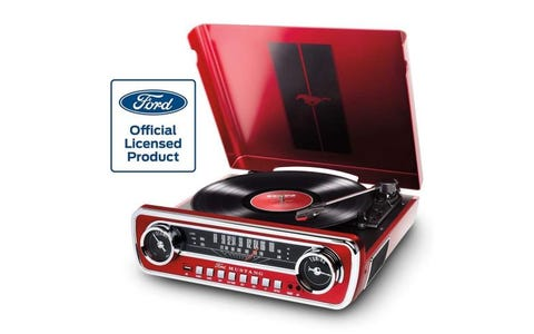 ION Mustang LP Radio turntable - Red