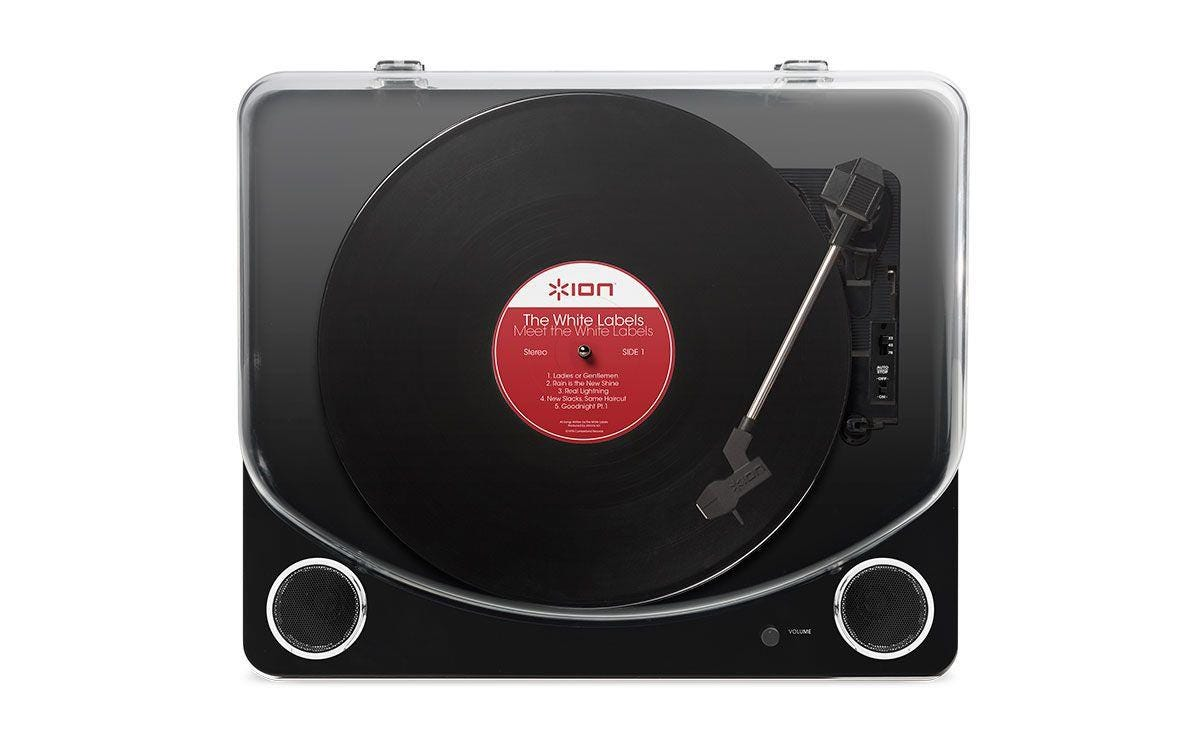 ION Max LP Conversion Turntable with Stereo Speakers - Black