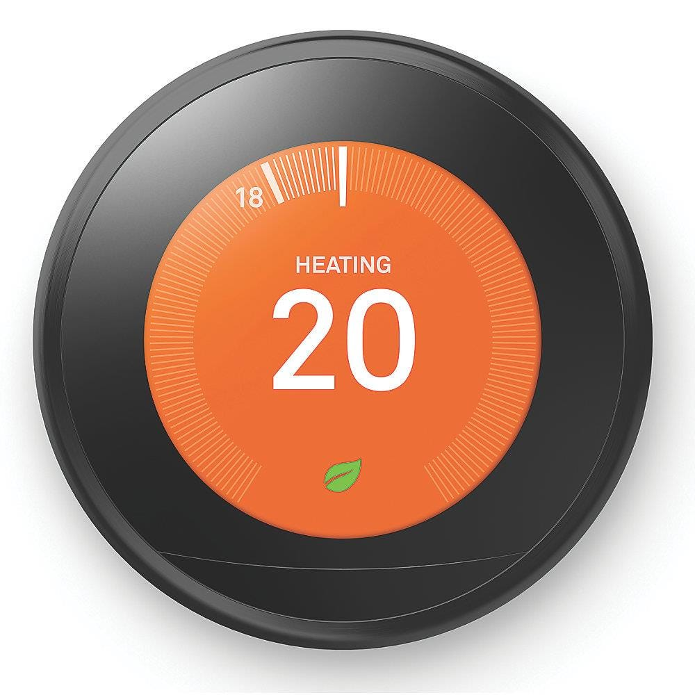 Nest Learning Smart Thermostat 3rd Gen Smart Thermostat in Black