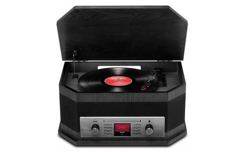 ION Audio Octave LP 8-in-1 Music Centre Automatic Belt Drive Wireless Bluetooth Turntable - Black