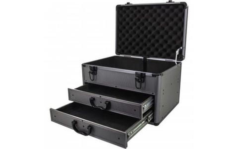 ROC Cases Heavy Duty Aluminium Storage Tool Box Carry Case with Sliding Drawers