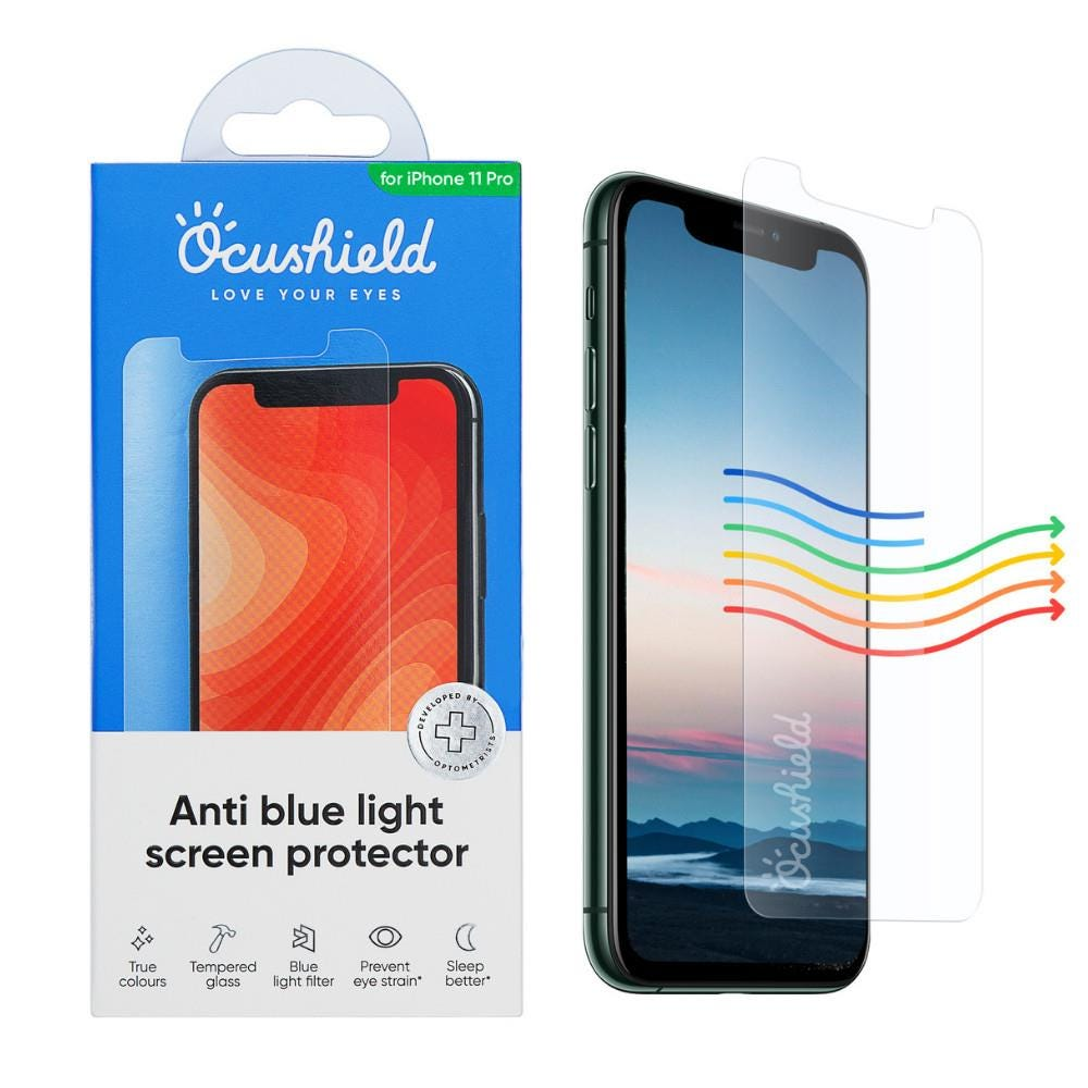 Ocushield iPhone 11 Pro/XS/X Anti-Bacterial Tempered Glass Screen Protector