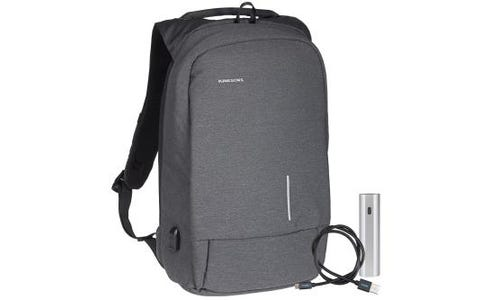 Kingsons Anti Theft USB Charge Backpack with Additional Micro USB Cable & Powerbank