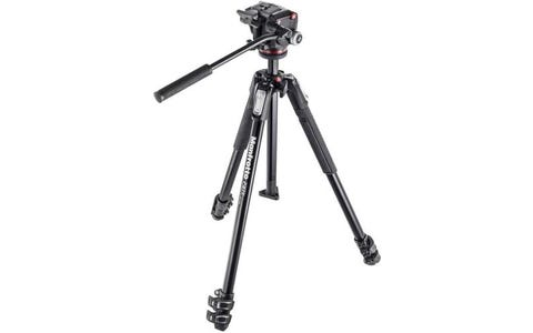 Manfrotto 190X Aluminium 3-Section Tripod with XPRO Fluid Head Kit