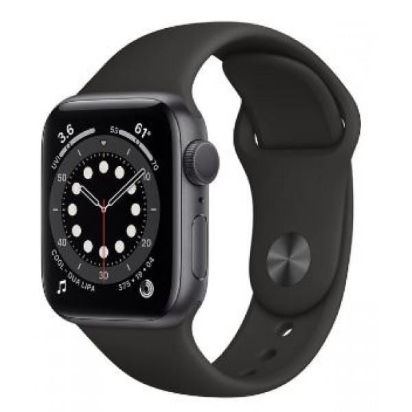 Apple GPS 44mm Watch Series 6  - Regular -  Space Gray Aluminium Case with Black Sport Band
