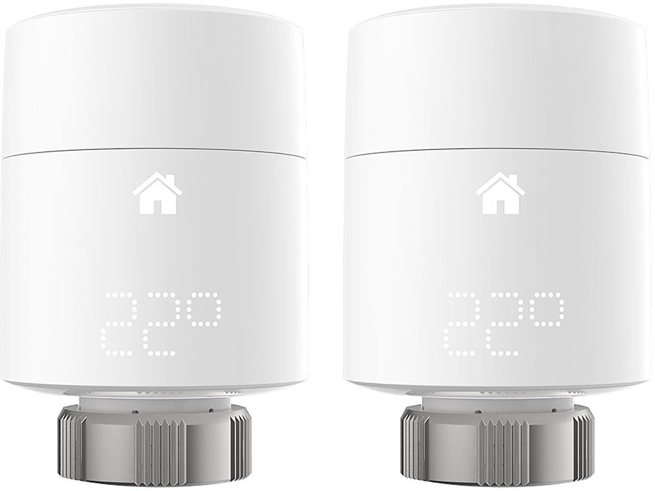 Tado Smart Radiator Thermostats (Vertical Mounting) - Duo Pack