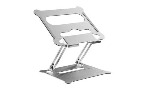ProperAV Height Adjustable Aluminium Laptop or Tablet Riser Stand