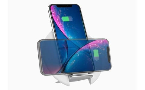 Cygnett Prime Wireless Desk Charger with Adjustable Stand (UK/EU Plug) -White