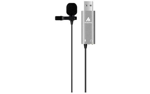 Maono LavaliernClip On Lapel Omnidirectional Electret Condenser USB Microphone with 3.5mm female socket