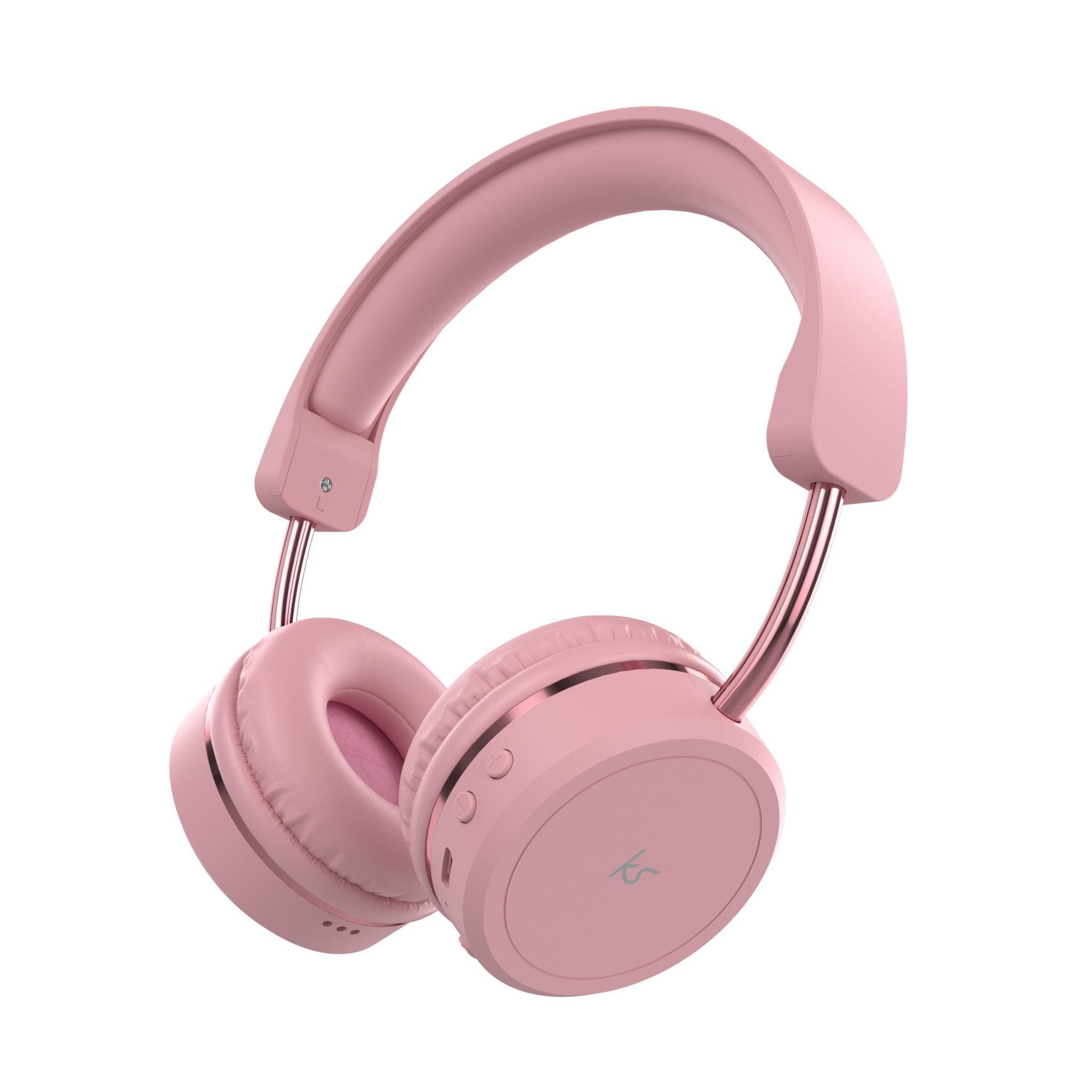 KitSound Metro X Wireless Bluetooth Over-Ear Headphones - Pink