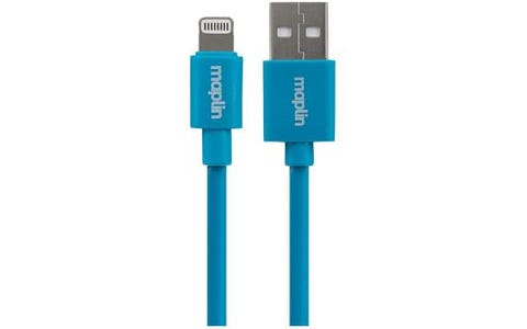 Maplin Premium Lightning Connector to USB A Male Cable (0.75m) - Blue